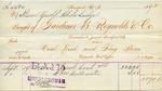 Receipt from Gardiner B. Reynolds & Co.