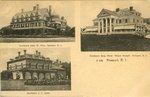 """Residence John W. Ellis, Newport, R. I., Residence Benj. Shaw """"Beach Mound"""", Newport, R. I., Residence J. J. Astor"""