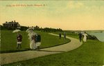 Along the Cliff Walk, North, Newport, R.I. by Berger Bros.
