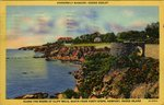 Along the Shore of Cliff Walk, South From Forty Steps, Newport, Rhode Island. by H.B. Settle and C.T. Art-Colortone