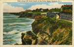 View along Cliff Walk South of the Forty Steps, Newport, R.I.