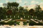 """Formal Garden, """"Wakehurst"""". J.J. Van Alen, Newport, R.I."""