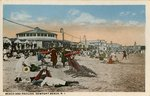 Beach and Pavilion, Newport Beach, R.I.