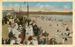 Along the Boardwalk, Newport Beach, Newport, R.I. by Tichnor Bros.