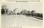 House Blown from Shore to Main Road Between Stone Bridge and Newport, Island Park, Portsmouth, R.I. the Great New England Huricane of 1938
