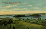 Portsmouth, R.I. Bird's Eye View,  Spectacle Islands. Hen Island and Island Park in distance.