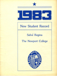 New Student Record 1983 by Salve Regina College