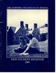 New Student Register 1981 by Salve Regina College