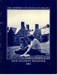 New Student Register 1981