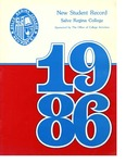 New Student Record 1986 by Salve Regina College