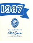 New Student Record 1987 by Salve Regina College