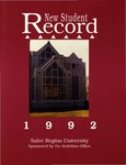 New Student Record 1992 by Salve Regina University