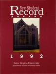 New Student Record 1992 by Salve Regina University